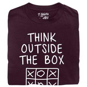 think outside the box Man t-shirt burgundy t-shirt