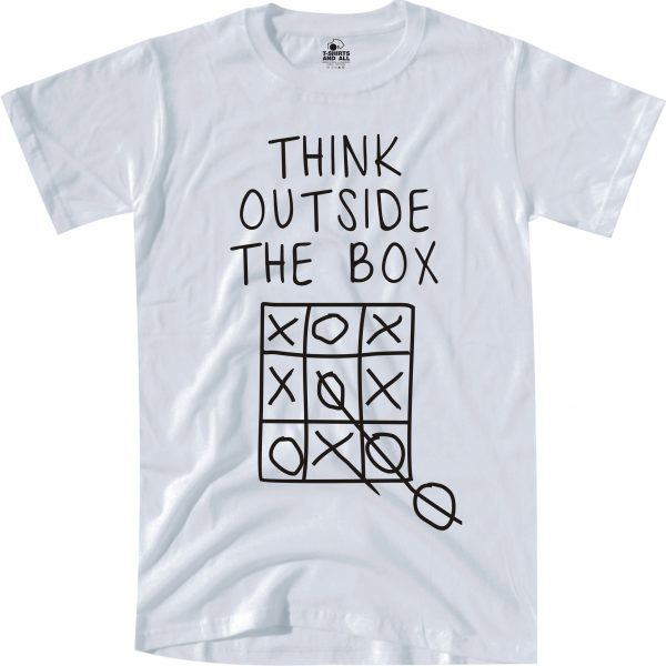 think outside man white t-shirt