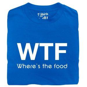 wtf Man t-shirt royal blue t-shirt