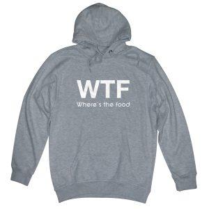 wtf man heather grey hoodie