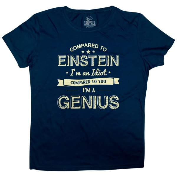 einstein woman navy t-shirt