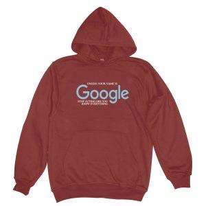 google burgundy man hoodie