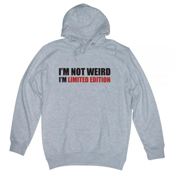 i'm not weird ash man hoodie