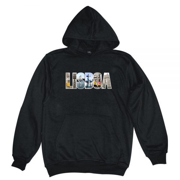LISBON POSTCARD black man hoodie