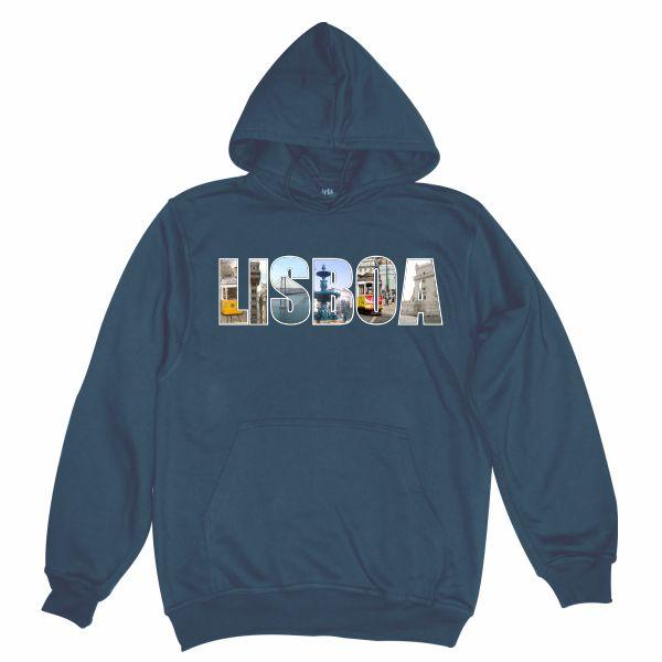 lisbon postcard navy hoodie