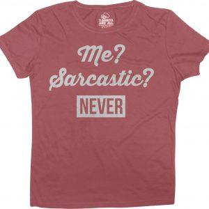 me sarcastic burgundy t-shirt