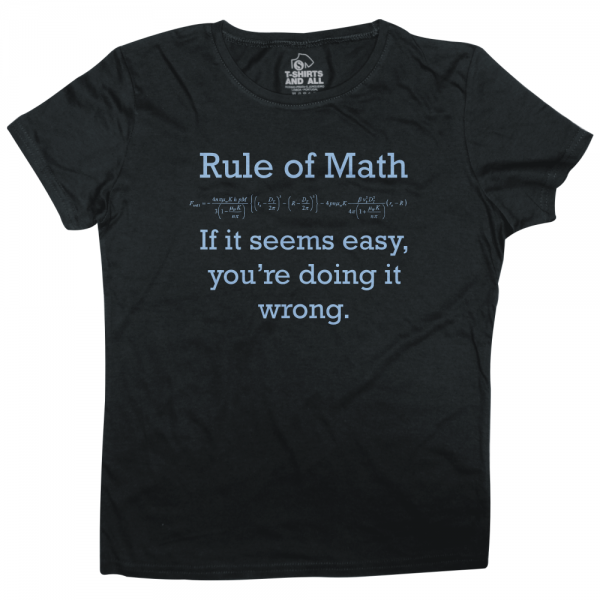 rule of math woman black t-shirt
