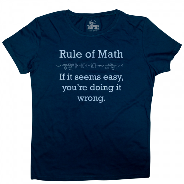 rule of math woman navy t-shirt