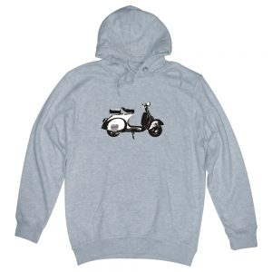 scooter heather grey man hoodie