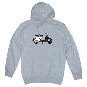 scooter heather grey man hoodie