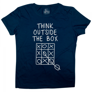 think outside woman navy t-shirt