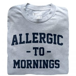 allergic to mornings Man t-shirt Heather grey