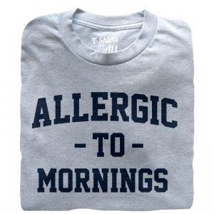 allergic to mornings Man t-shirt Heather grey