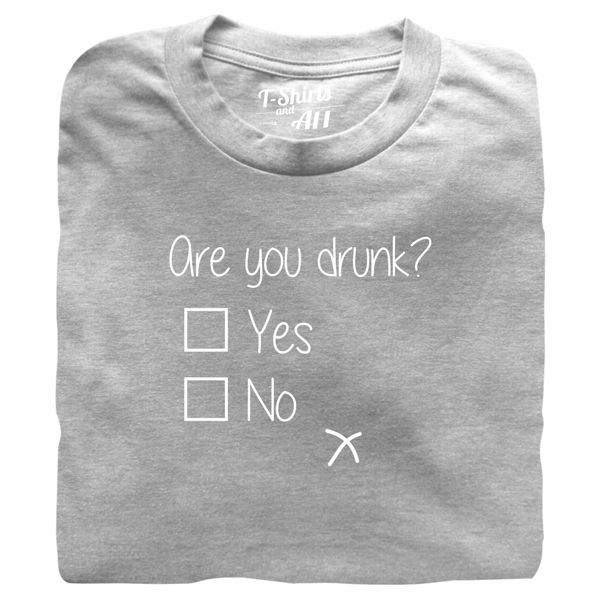are you drunk grey t-shirt