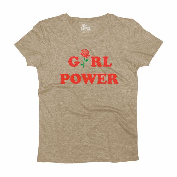 girl power grey t-shirt