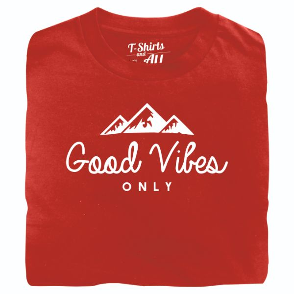 good vibes red t-shirt