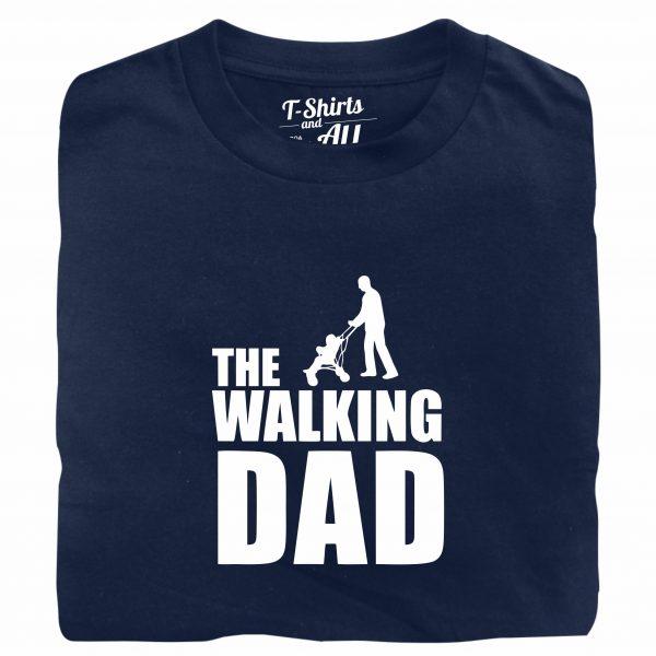 the walking dad navy t-shirt