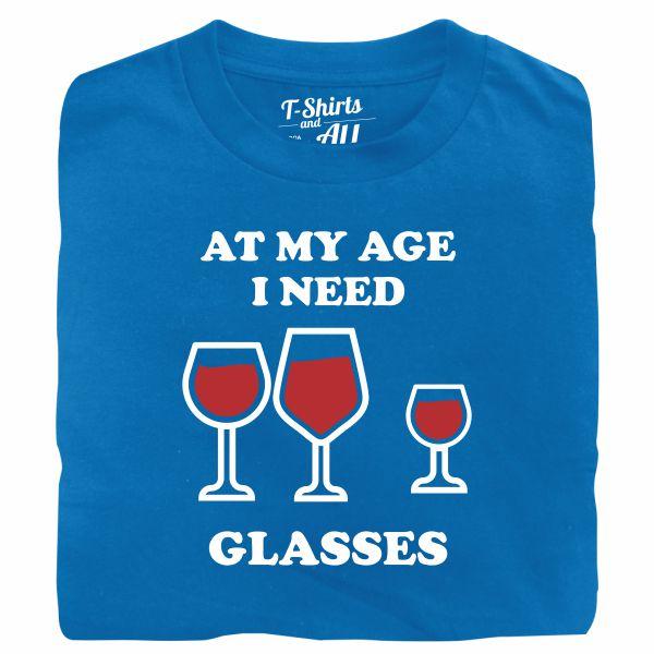 At my age I need glasses man atoll t-shirt