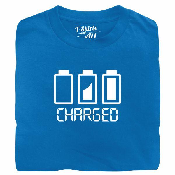 Battery charged man atoll t-shirt