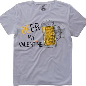 Beer my valentine girls white t-shirt
