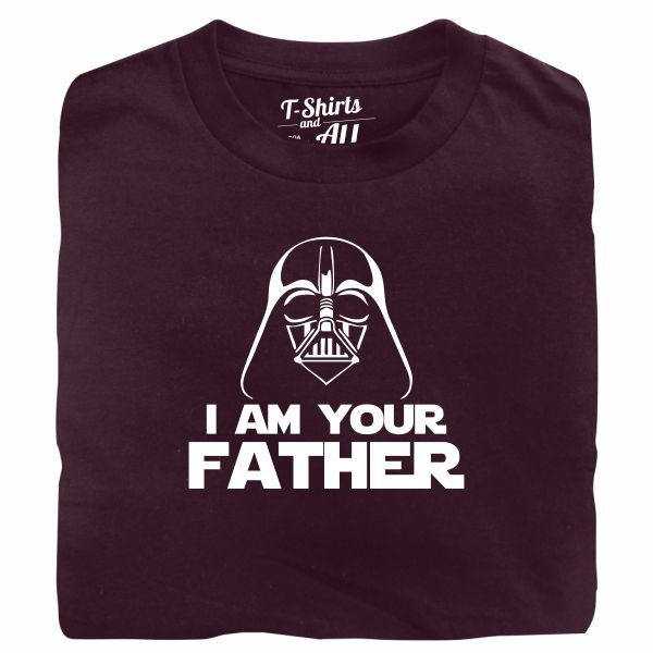 I am your father man burgundy t-shirt