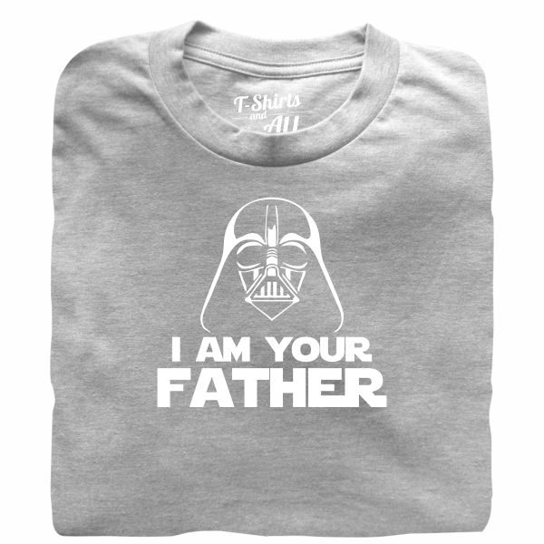 I am your father man heather grey t-shirt