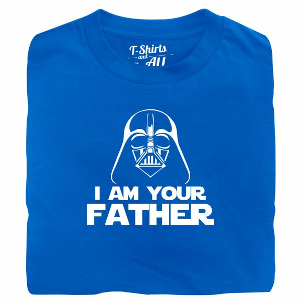 I am your father man royal blue t-shirt