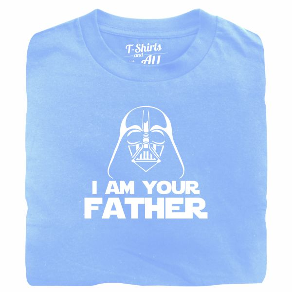 I am your father man sky blue t-shirt