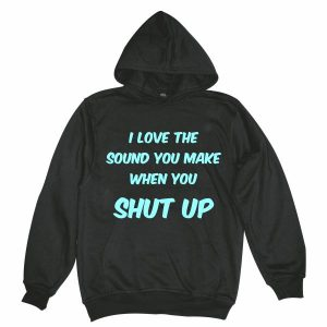 I love the sound man black hoodie