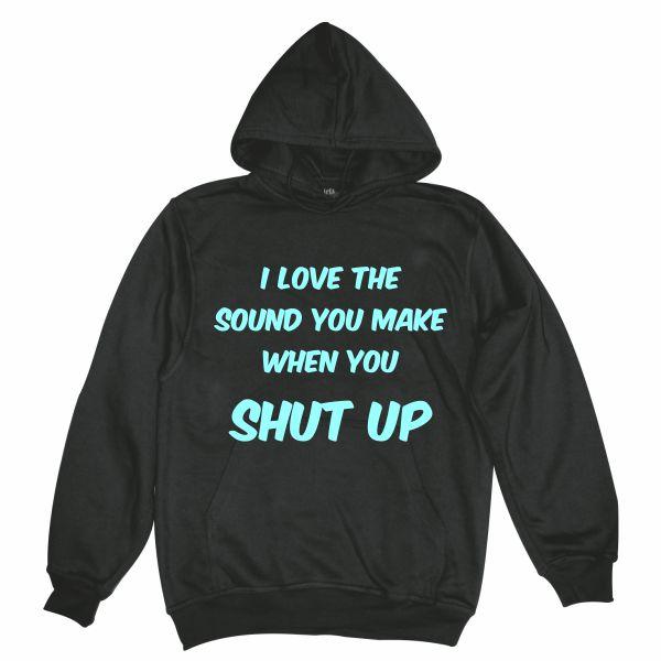 I love the sound man black hoodie