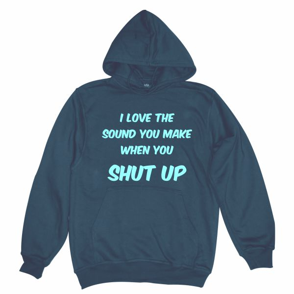 I love the sound man navy blue hoodie