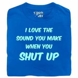 I love the sound man royal blue t-shirt