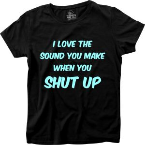 I love the sound woman black t-shirt