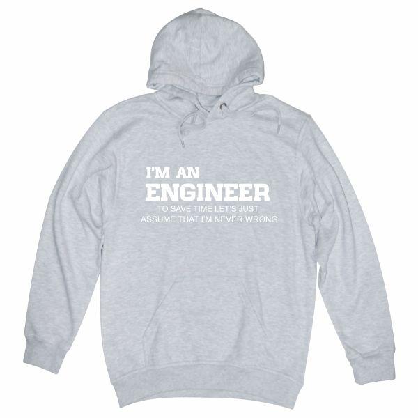 I'm an engineer heather grey hoodie