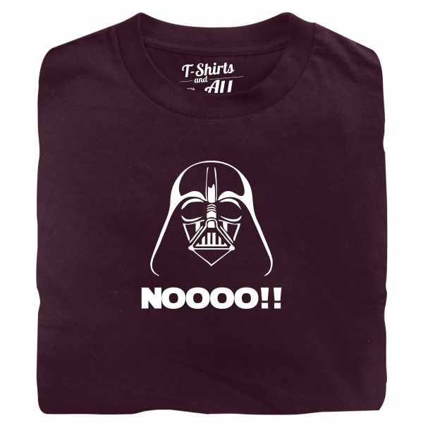 Noooo (I am your father) kids burgundy t-shirt