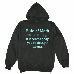 Rule of math man black hoodie