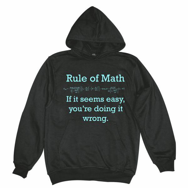 Rule of math man black hoodie