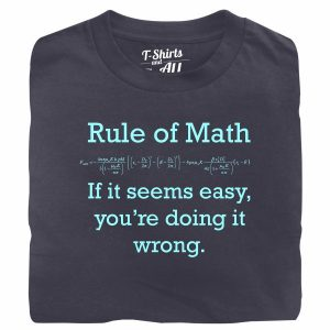 Rule of math man denim t-shirt