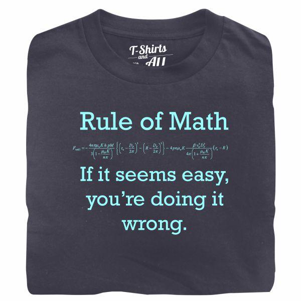 Rule of math man denim t-shirt
