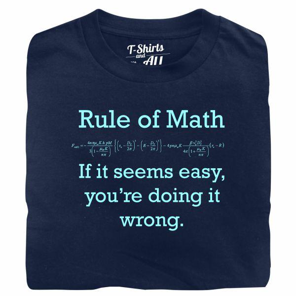 Rule of math man navy blue t-shirt