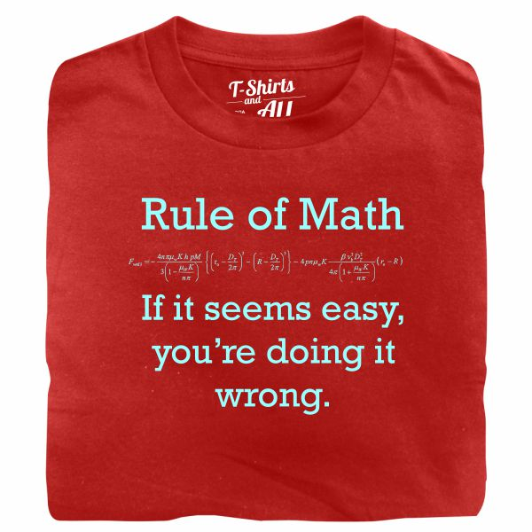 Rule of math man red t-shirt