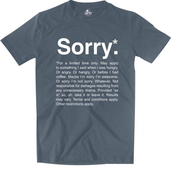 sorry denim t-shirt