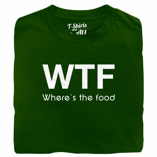 WTF kids bottle green t-shirt