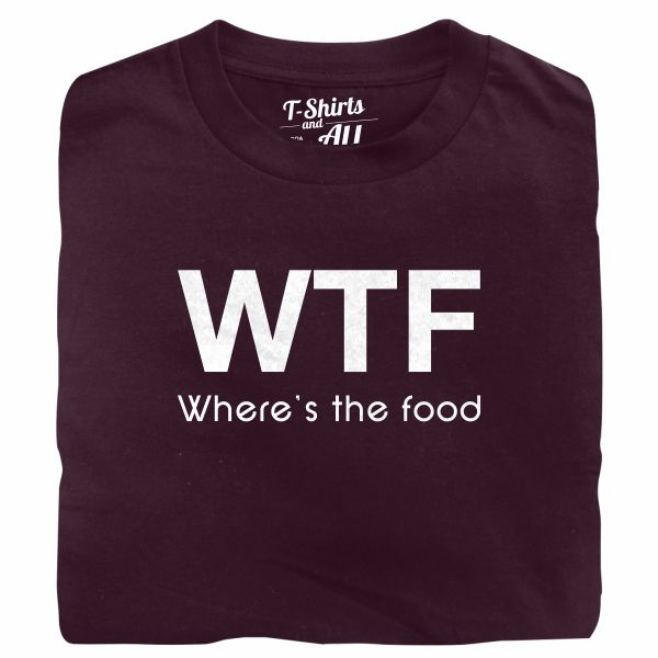 WTF kids burgundy t-shirt