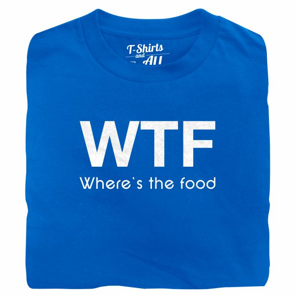 WTF kids royal blue t-shirt