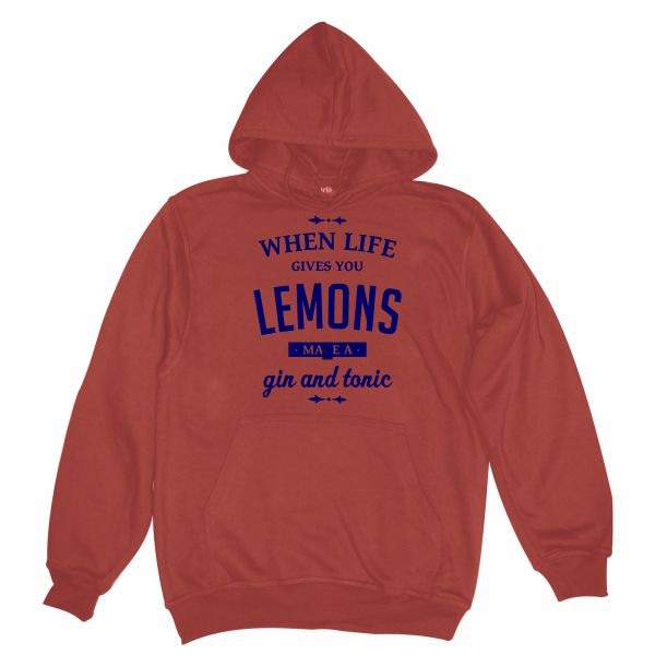 When life gives you lemons burgundy hoodie