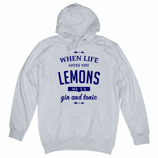 When life gives you lemons heather grey hoodie