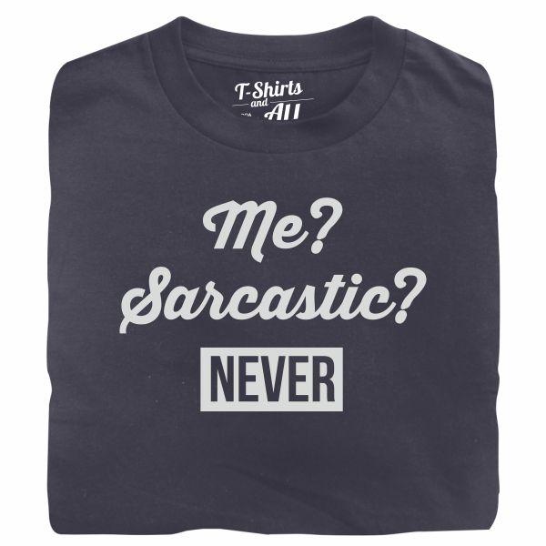 me sarcastic man denim t-shirt