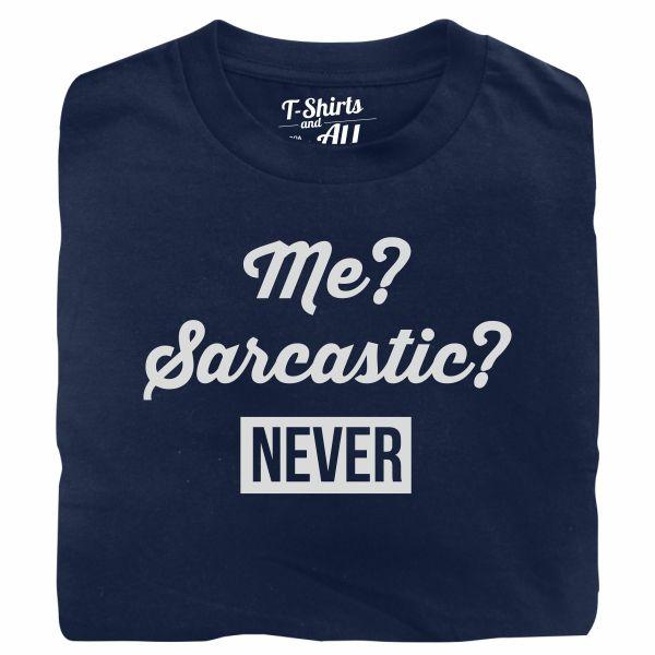 me sarcastic navy blue t-shirt