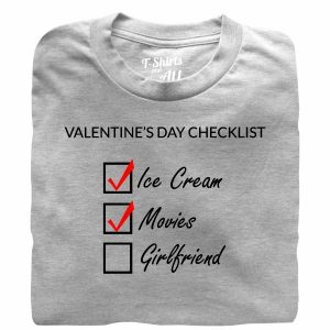 valentine's day checklist man heather grey t-shirt